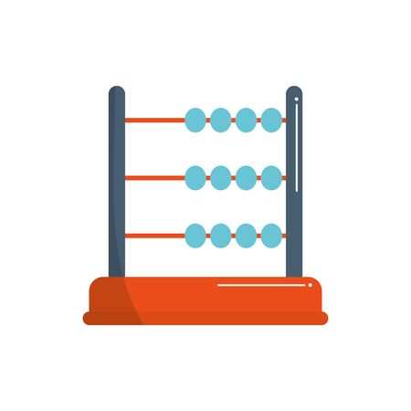 money business financial arithmetic account abacus vector illustration color tone and fill