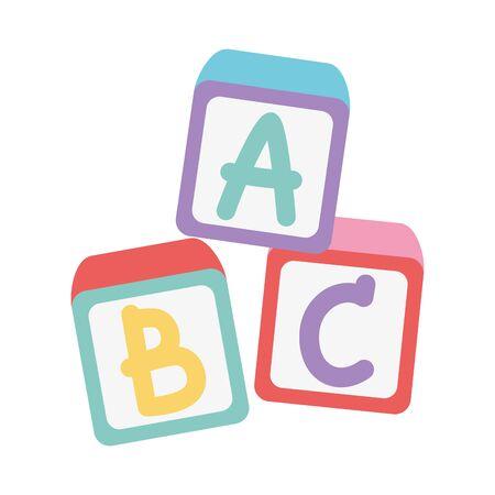 kids zone, toys alphabet blocks cartoon Vettoriali