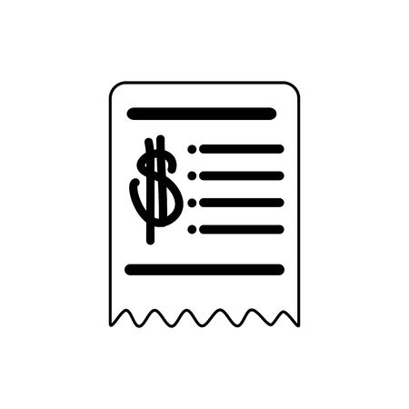 money business financial voucher trade line style icon vector illustration