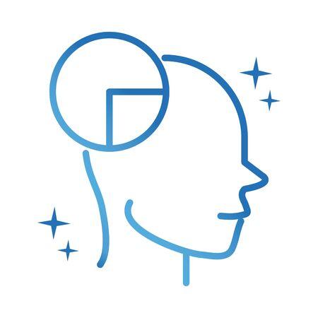 alzheimers disease neurological brain reasoning vector illustration gradient line icon