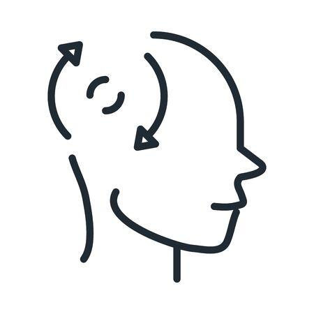 alzheimers disease neurological brain loneliness line style icon