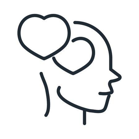alzheimers disease neurological brain feeling vector illustration line style icon