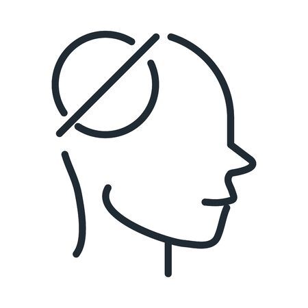 alzheimers disease neurological brain empty memorie line style icon