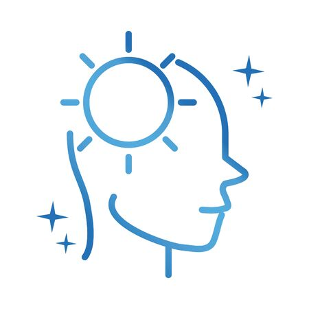 alzheimers disease neurological brain ideas gradient line icon  イラスト・ベクター素材