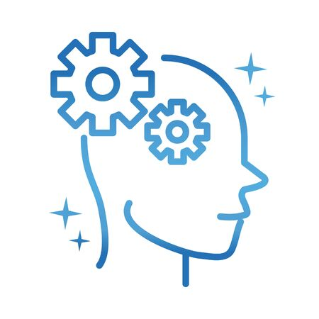 alzheimers disease neurological brain cognition gradient line icon