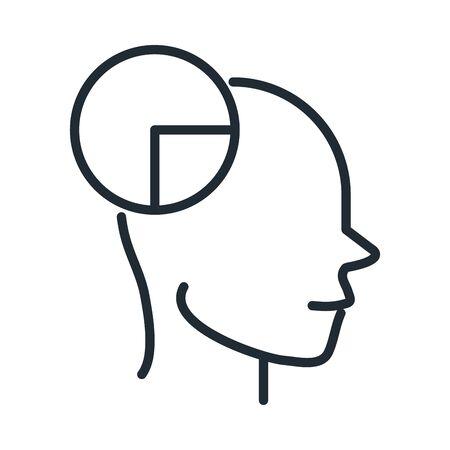 alzheimers disease neurological brain reasoning vector illustration line style icon Illustration