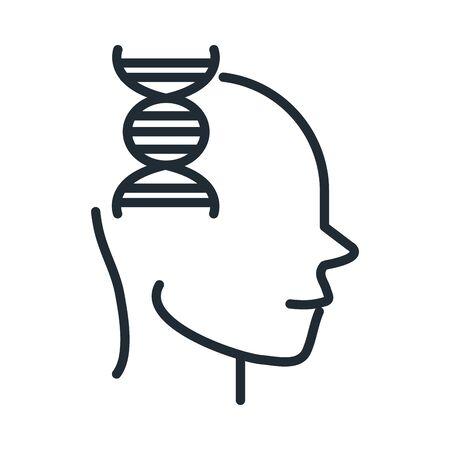 alzheimers disease neurological brain genetic line style icon