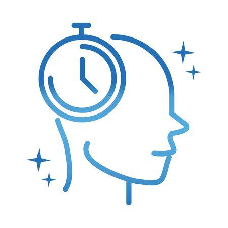 alzheimers disease neurological brain time gradient line icon