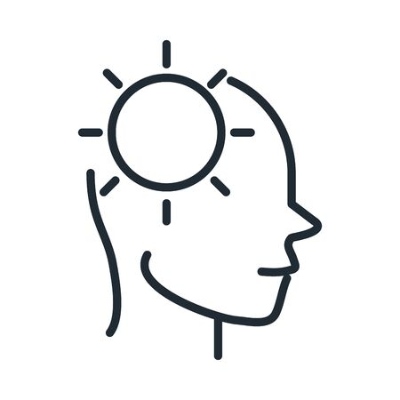 alzheimers disease neurological brain ideas line style icon Illustration
