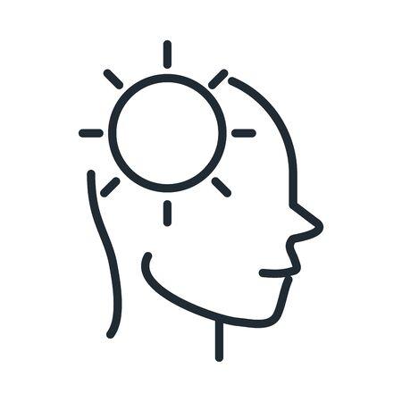 alzheimers disease neurological brain ideas line style icon Illustration