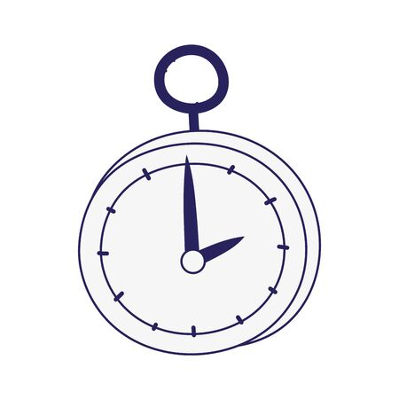 vintage pocket clock accessory icon line style