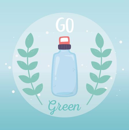 water bottle recycle go green environment ecology
