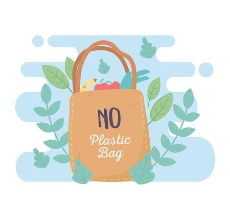 no plastic shopping bag market environment ecology Vektorgrafik