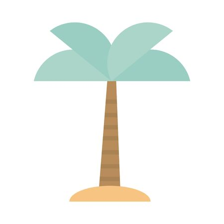 tropical palm tree sand exotic botanical vector illustration tone color icon