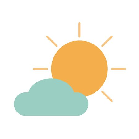sun cloud weather climate summer day tone color icon