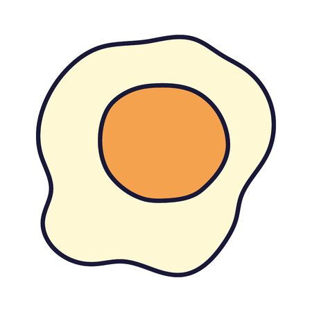 fried egg breakfast cartoon icon style design Vettoriali