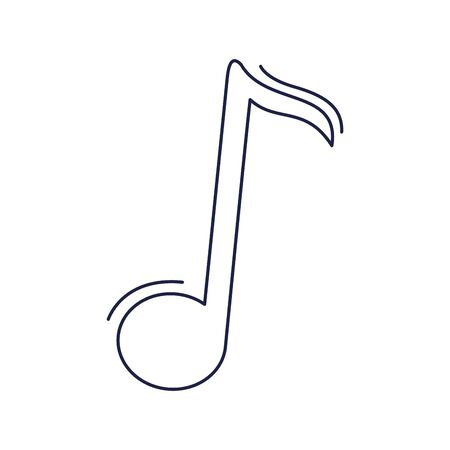 happy birthday, note music melody celebration party vector illustration line style icon Vectores