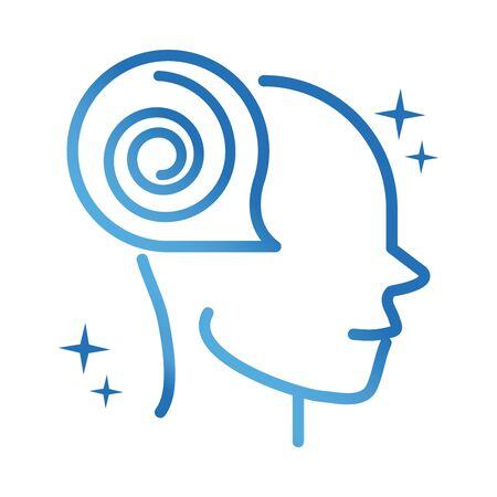alzheimers disease neurological losing brain function gradient line icon