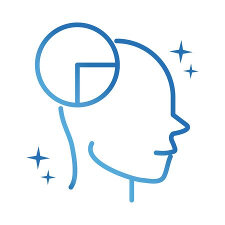 alzheimers disease neurological brain reasoning gradient line icon Illustration