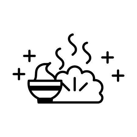 sushi oriental menu tempure and wasabi line style icon