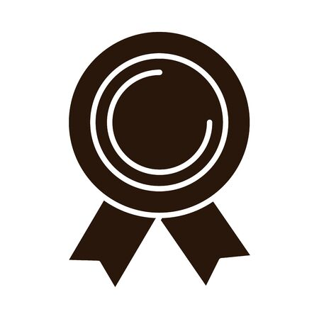 school education rosette award supply silhouette style icon