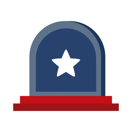 memorial day tombstone star american celebration flat style icon