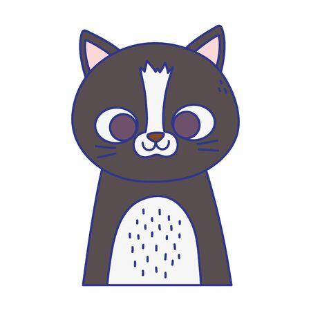 cute cat portrait cartoon feline animal icon design