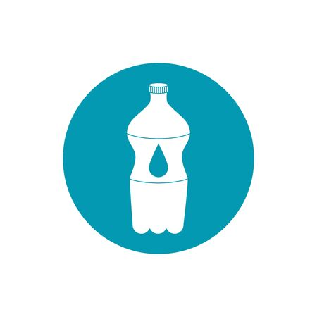 drinks plastic bottle water cold fresh liquid blue block style icon