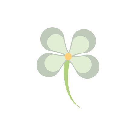 flower natural floral botanical on white background vector illustration