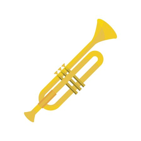 trumpet wind musical instrument vector illustration isolated icon Ilustrace