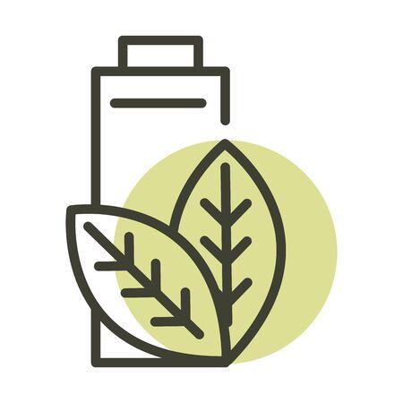 battery ecology alternative sustainable energy line style icon
