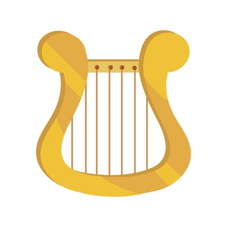 lyre string musical instrument vector illustration isolated icon  イラスト・ベクター素材