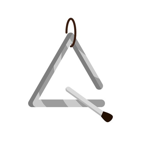 triangle and stick musical instrument vector illustration isolated icon
