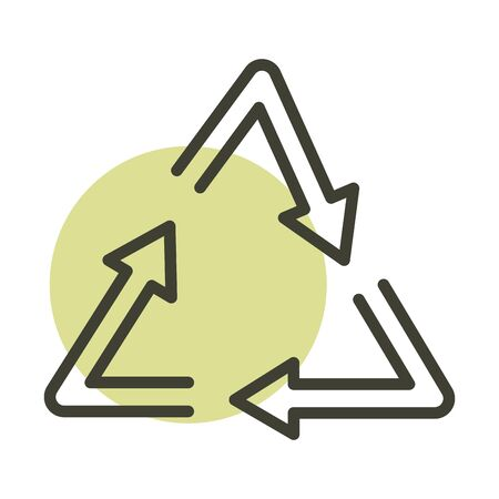recycle alternative sustainable energy line style icon Ilustrace