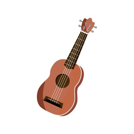 acoustic guitar string musical instrument vector illustration isolated icon Ilustrace