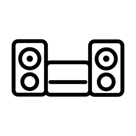music system equipment speaker sound line style icon vector illustration