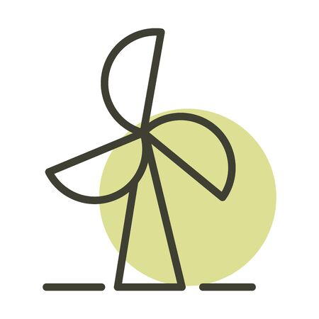 wind turbine alternative sustainable energy vector illustration line style icon Ilustrace