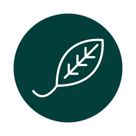 leaf environment alternative sustainable energy block line style icon