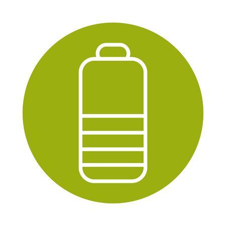 battery alternative sustainable energy block line style icon