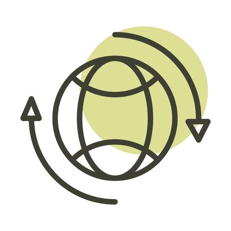 world alternative sustainable energy vector illustration line style icon