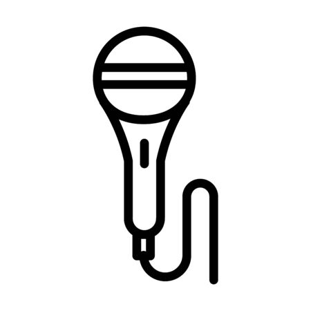 microphone karaoke sound line style icon vector illustration
