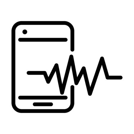 smartphone frequency sound line style icon vector illustration Ilustrace