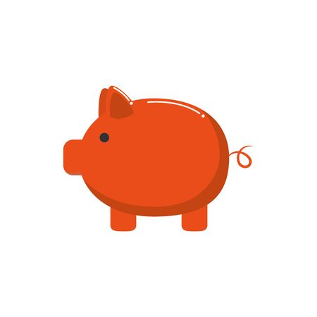 piggy bank saving money business financial color tone and fill