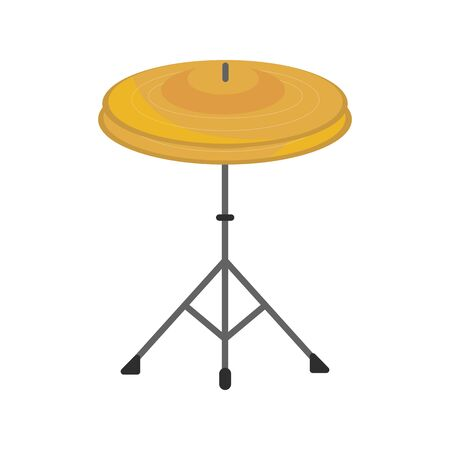 cymbals in tripod percussion musical instrument vector illustration isolated icon
