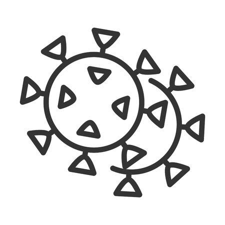 virus covid 19 pandemic respiratory symptom line style icon