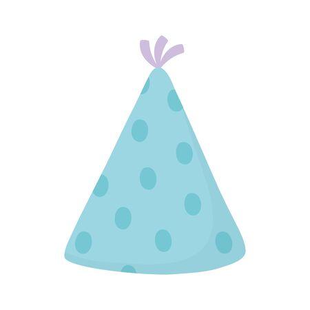 happy birthday party hat celebration isolated icon