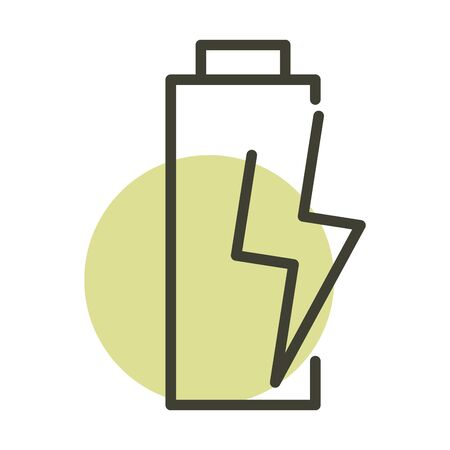 battery power alternative sustainable energy line style icon