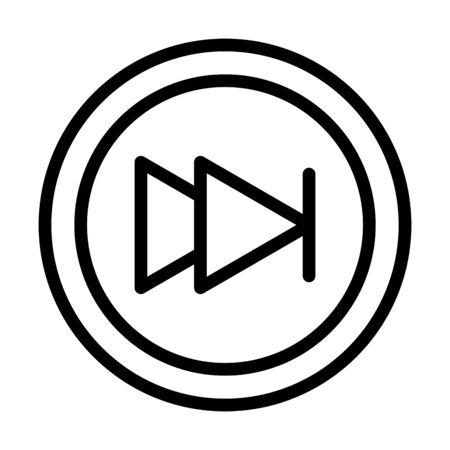 media control button sound line style icon vector illustration 일러스트