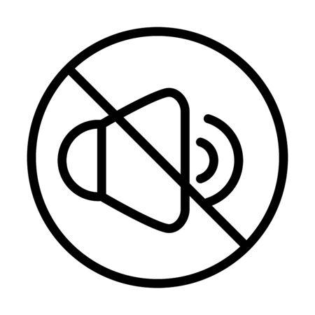 mute volume audio sound line style icon vector illustration 일러스트