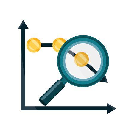 chart report decrease money analysis stock market crash isolated icon